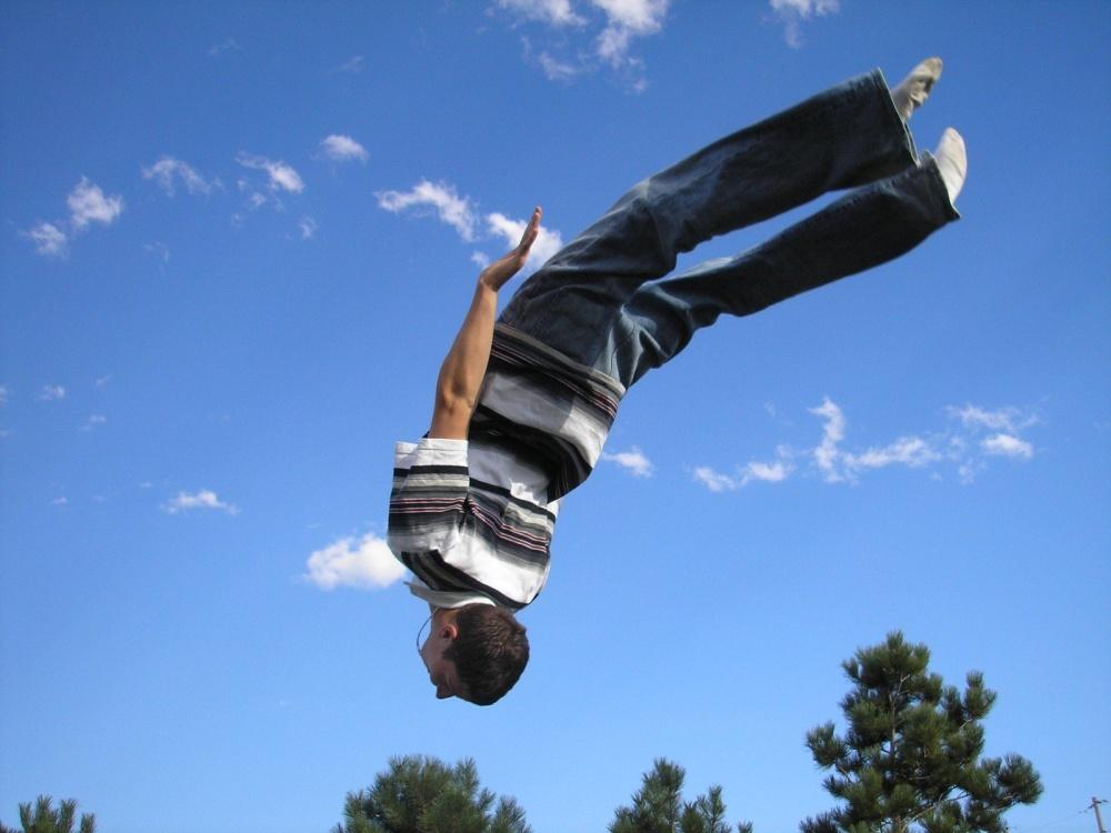 akrobacie na trampolíně